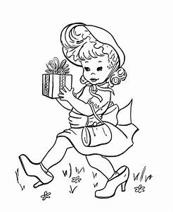 birthday present coloring page - birthday coloring pages for girls coloring home