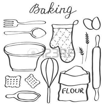 dessins de cuisine dessin ustensiles de cuisine ensemble de cuisson