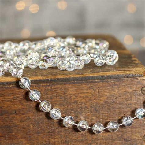 clear iridescent acrylic bead garland pearl spools