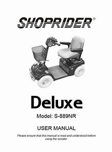 Shoprider 889nr Deluxe Mobility Scooter