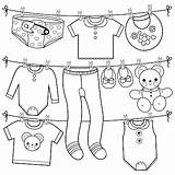 Coloring Clothes Line Hanging Vector sketch template