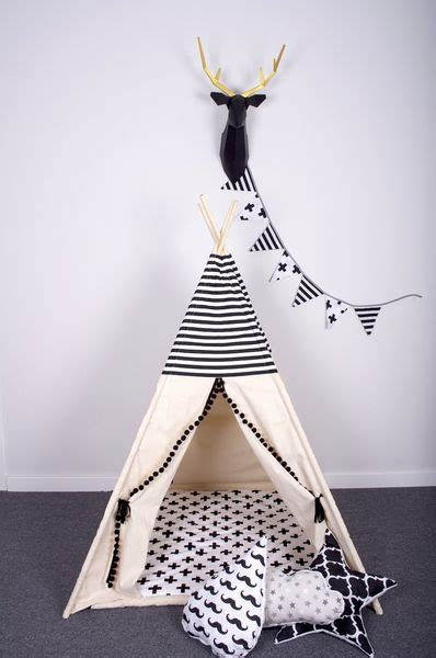 Tipi Kinderzimmer Dekorieren by Black White Set Tipi Cozydots Auf Dawanda