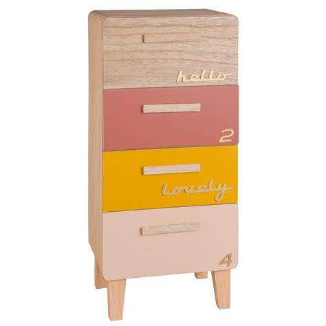 maison du monde rangement petit meuble de rangement 4 tiroirs multicolore maisons du monde