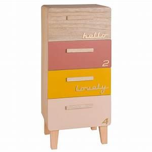 Maison Du Monde Petit Meuble : petit meuble de rangement 4 tiroirs multicolore maisons ~ Dailycaller-alerts.com Idées de Décoration