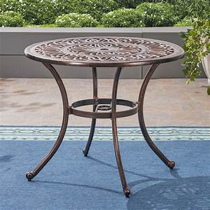 35, 25, U0026quot, Brown, Distressed, Round, Outdoor, Patio, Dining, Table, -, Walmart, Com