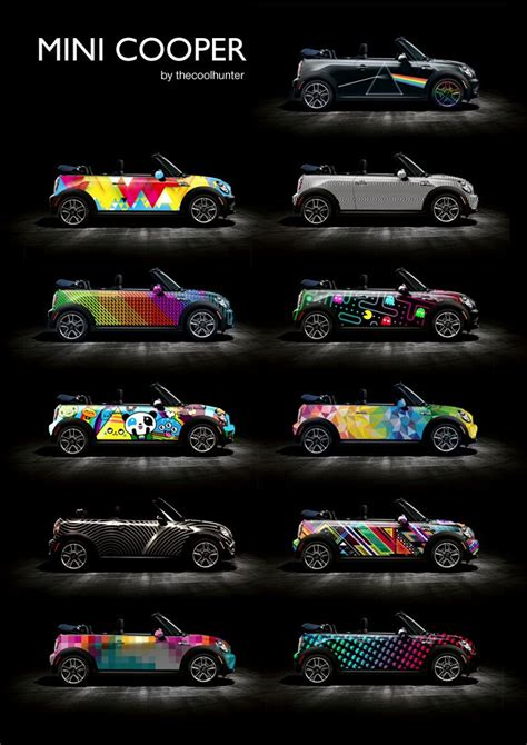 cool wrapped cars cool customized cars mini cooper car wraps by tch png