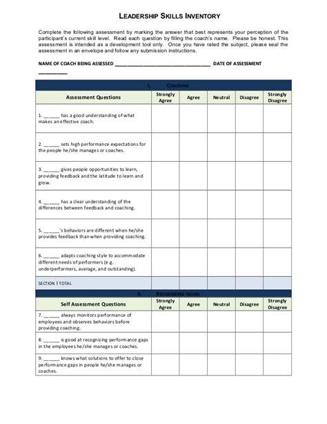 leadership skills  inventory general