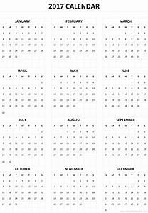 2017 calendar one page yearly printable calendar With single page calendar template
