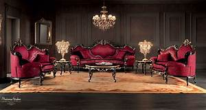 Venetian Sitting Room With Luxury Carved Sofas And