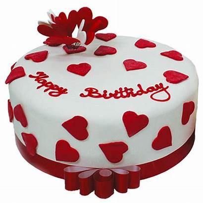 Cake Valentine Birthday Heart Happy Valentines Cakes