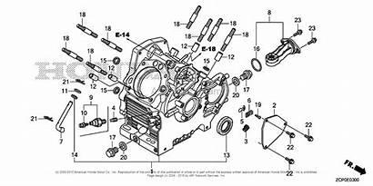 Honda Engine Crankcase Diagram Parts Engines Chn