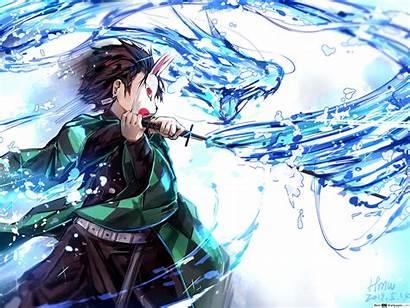 Slayer Tanjiro Demon Breathing Water Dragon Form