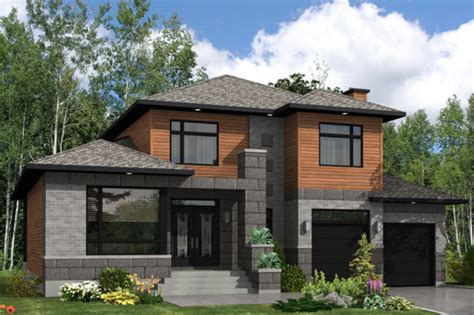 contemporary prairie style house plans small one modern style house plan 3 beds 2 5 baths 2410 sq ft plan