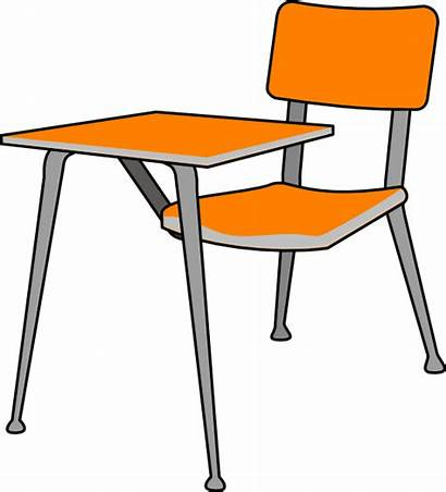 Clipart Classroom Desk Under Chairs Clip Cliparts