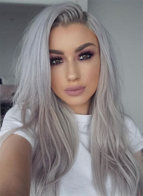 13 Grey Hair Color Ideas To Try Sues Platinum Hair
