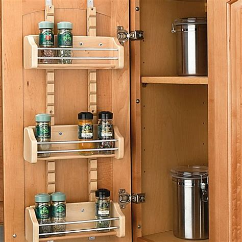 kitchen cabinet spice racks rev a shelf 174 adjustable door mount spice rack bed bath 5793