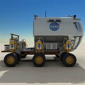 3D 3ds New Lunar Rover