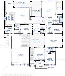 home plans with courtyards modern courtyard house plan 61custom contemporary