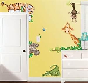 Ideen Für Kinderzimmer Wandgestaltung : wandgestaltung im kinderzimmer tiere im babyzimmer ~ Lizthompson.info Haus und Dekorationen