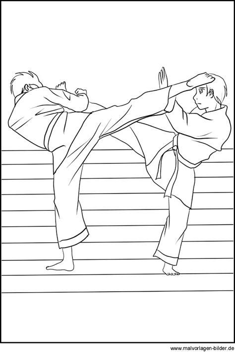 karate ausmalbild malvorlagen kampfsport