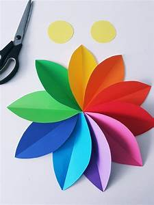 Einfache Papierblume Basteln : papierblumen basteln einfache anleitung f r eine blumen wanddeko basteln papierblumen ~ Eleganceandgraceweddings.com Haus und Dekorationen
