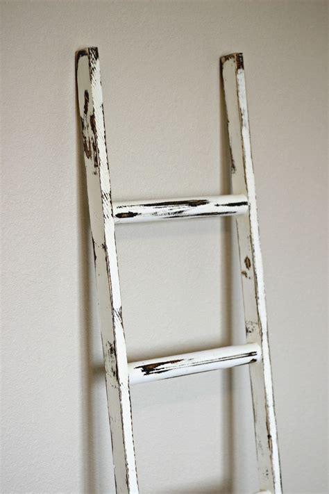 ladder vintage rustic blanket ladder  linenandlaceshop