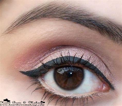 lakme absolute shine  liquid eyeliner black swatches review heart bows makeup