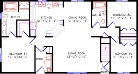 3 bedroom 2 bath 1200 sq ft house plans Google Search