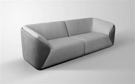 Circular Settee Simple Circular Leather Couch With Curved