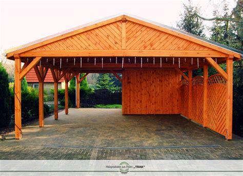 Carport Mit Holz Verkleiden by Carport Aus Holz Projekte5 001 Carports Aus Polen