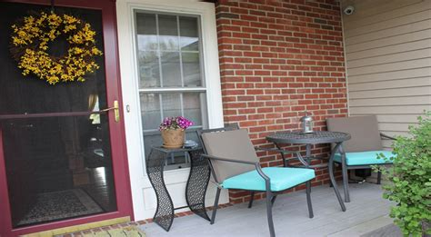 Front Porch Table by Small Front Porch Transformed With A Patio Bistro Set