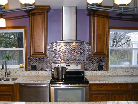 purple kitchen backsplash photo page hgtv