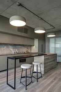 ilot central de cuisine blanc avec evier solutions pour With ilot de cuisine avec table