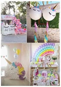 Theme Anniversaire Fille : anniversaire licorne deco petite fille ~ Melissatoandfro.com Idées de Décoration