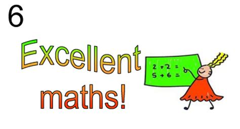 6) Excellent Maths! (1 Sticker Repeated 65 Times) Stickm