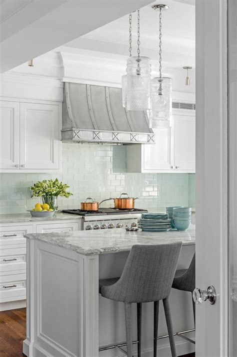 Kitchen Island Accent Color by Gray And Aqua Kitchen Accent Colors Transitional Kitchen