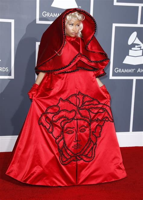 Nicki Minaj fashion style on Grammy Dress 2012