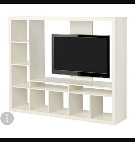 Ikea Kallax Tv by Large White Ikea Expedit Kallax Tv Unit In Brentry