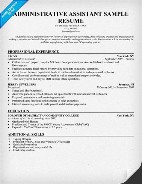 Exle Of Administrative Assistant Resume by 37 Best Images About Resume On Health