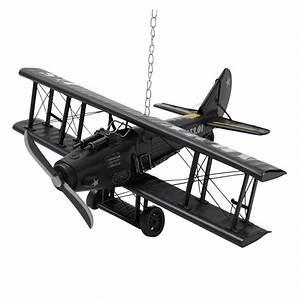 Avion déco en métal 18 x 42 cm ARMY Maisons du Monde