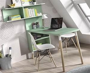 Bureau Pour Chambre : bureau pour chambre ado avec tag res meubles ros ~ Teatrodelosmanantiales.com Idées de Décoration