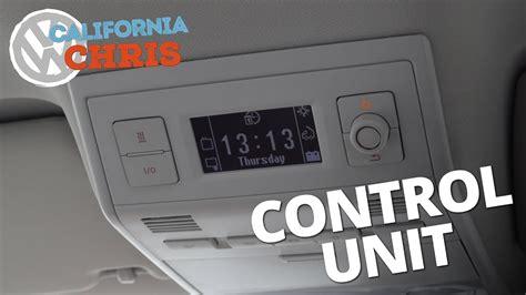 vw california ocean control unit fridge  auxiliary