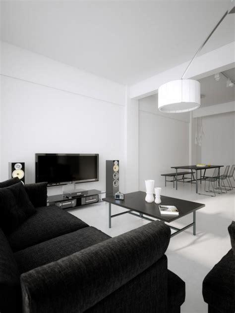 inspire white  black living room designs