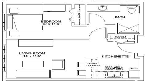 one bedroom floor plan one bedroom apartment floor plan 1 bedroom efficiency