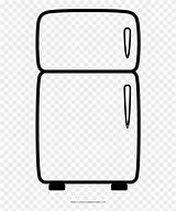 Fridge Coloring Refrigerator Clipart sketch template