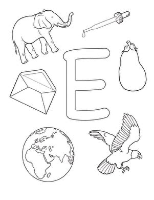 letter e worksheets preschool coloring e is for worksheet education 307
