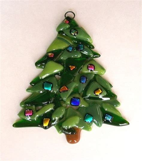 fused glass christmas ornament fused glass pinterest