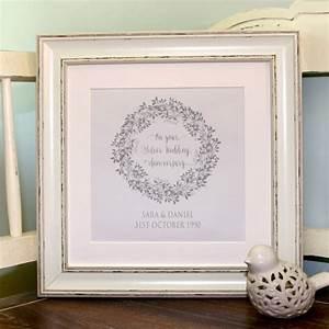 Originalpersonalised Silver Wedding Anniversary Canvas