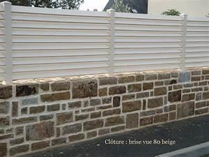 Brise Vue Pvc Blanc : cl ture pvc brise vue sur mesure habitat discount ~ Dailycaller-alerts.com Idées de Décoration