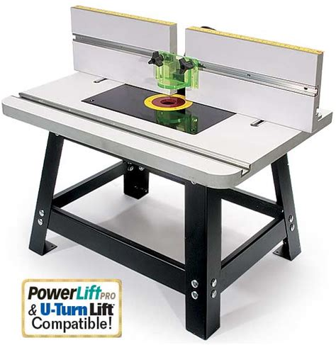 router table and router rock solid and portable benchtop router table